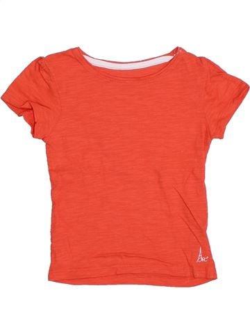 T-shirt manches courtes fille ORCHESTRA orange 4 ans été #1323133_1