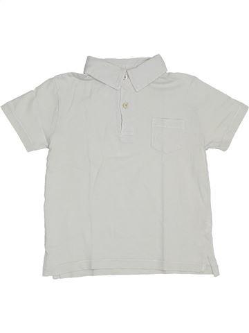 Polo de manga corta niño CFK blanco 5 años verano #1323283_1