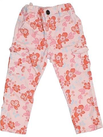 Pantalon fille VERTBAUDET rose 3 ans été #1323364_1