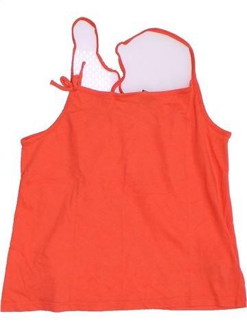 T-shirt sans manches fille TAPE À L'OEIL rouge 10 ans été #1323461_1