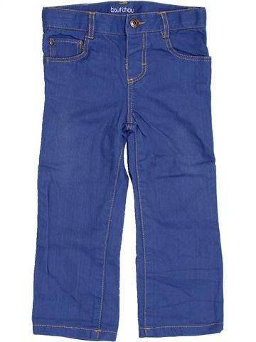 Pantalon fille BOUT'CHOU bleu 2 ans été #1324298_1