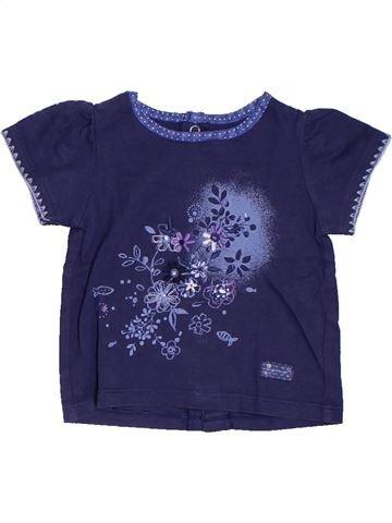 T-shirt manches courtes fille SERGENT MAJOR bleu 6 mois été #1324339_1