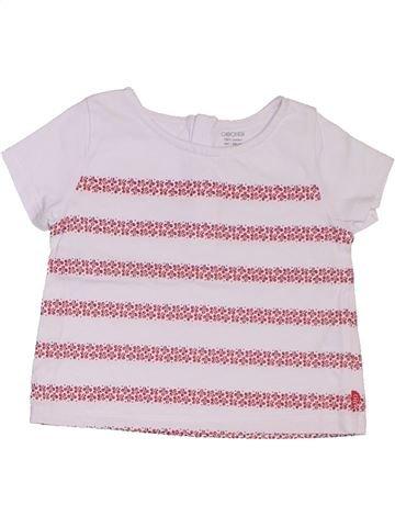 T-shirt manches courtes fille OKAIDI blanc 6 mois été #1324519_1