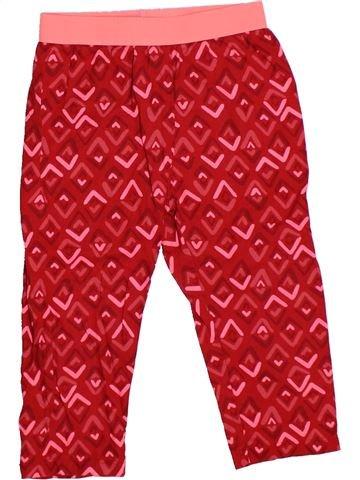 Pantalon fille DPAM rouge 3 ans été #1325962_1
