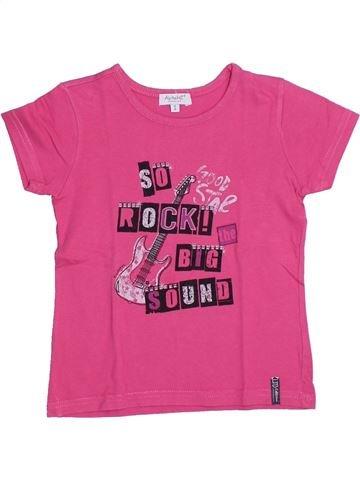 T-shirt manches courtes fille ALPHABET rose 6 ans été #1326150_1