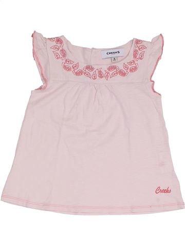 T-shirt manches courtes fille CREEKS rose 8 ans été #1327010_1