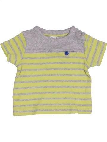 T-shirt manches courtes garçon MINICLUB beige naissance été #1328387_1