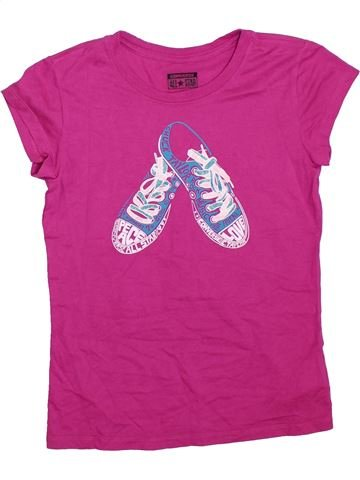 T-shirt manches courtes fille CONVERSE violet 13 ans été #1328858_1