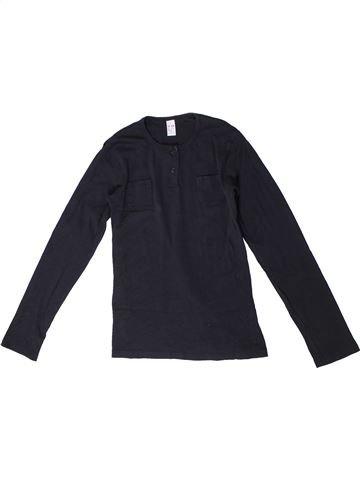 T-shirt manches longues garçon ZARA bleu foncé 12 ans hiver #1329373_1