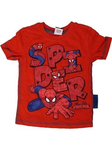 T-shirt manches courtes garçon GEORGE rouge 12 mois été #1329482_1