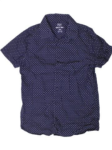 Chemise manches courtes garçon F&F bleu 12 ans été #1329603_1