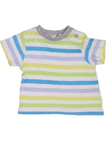 T-shirt manches courtes garçon M&CO blanc naissance été #1329855_1