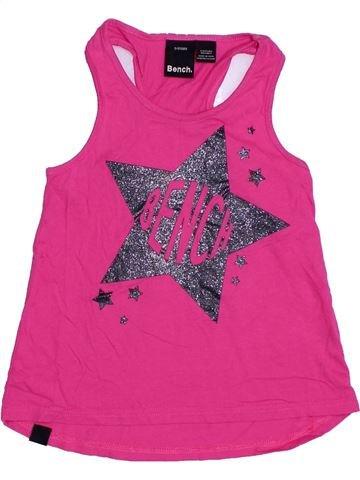 T-shirt sans manches fille BENCH rose 6 ans été #1329914_1