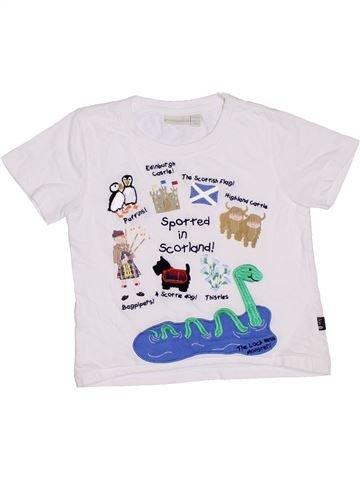 T-shirt manches courtes garçon JOJO MAMAN BÉBÉ blanc 3 ans été #1330017_1
