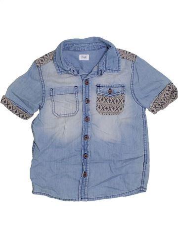 Chemise manches courtes garçon F&F bleu 5 ans été #1330608_1