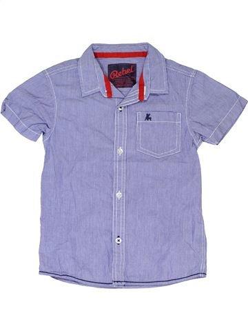Chemise manches courtes garçon PRIMARK violet 5 ans été #1330638_1