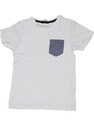 T-shirt manches courtes garçon GEORGE blanc 7 ans été #1330854_1