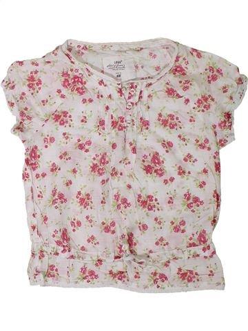 Blouse manches courtes fille H&M rose 6 ans été #1330978_1