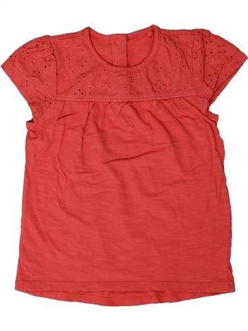 T-shirt manches courtes fille TU rouge 2 ans été #1331174_1