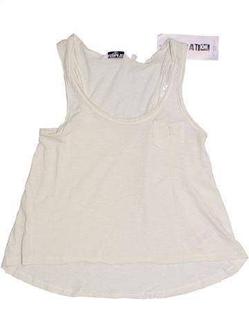 T-shirt sans manches fille NEW LOOK blanc 11 ans été #1331178_1