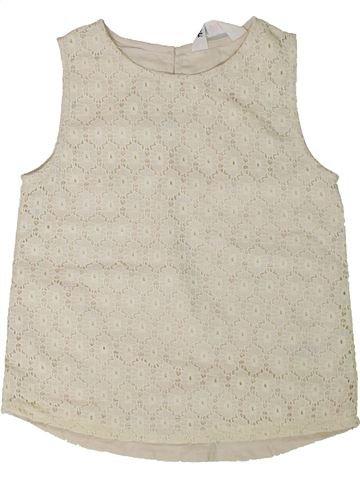 T-shirt sans manches fille H&M beige 7 ans été #1331187_1