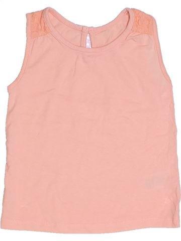 T-shirt sans manches fille MATALAN rose 2 ans été #1331209_1