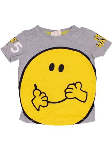 T-shirt manches courtes garçon GEORGE gris 3 ans été #1331347_1