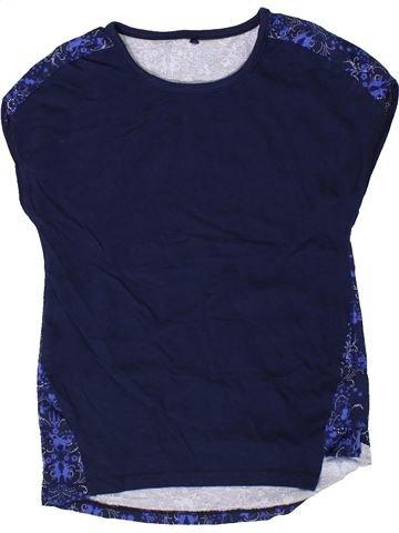 T-shirt manches courtes fille GEORGE bleu 9 ans été #1331380_1