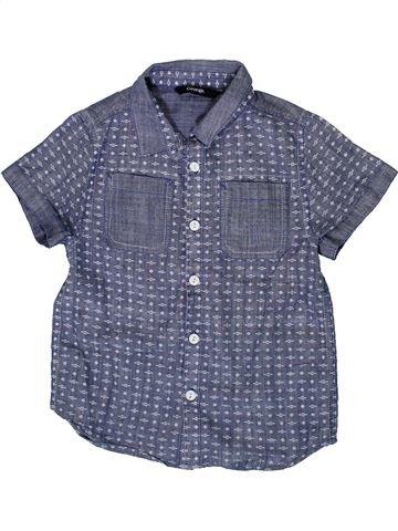Chemise manches courtes garçon GEORGE bleu 6 ans été #1331384_1