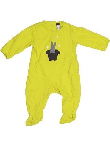 Pyjama 1 pièce garçon ORCHESTRA jaune 6 mois été #1331502_1
