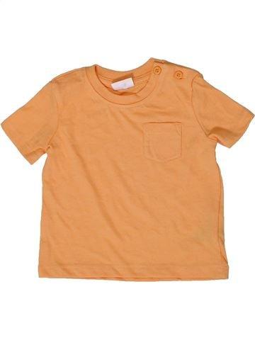 T-shirt manches courtes garçon F&F orange 6 mois été #1331549_1