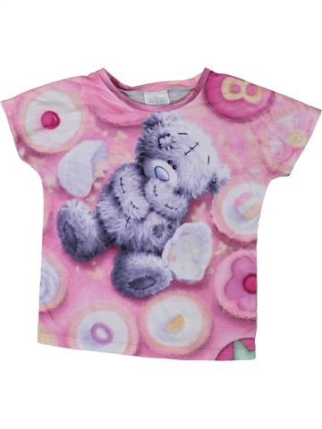 T-shirt manches courtes fille ME TO YOU violet 8 ans été #1331556_1