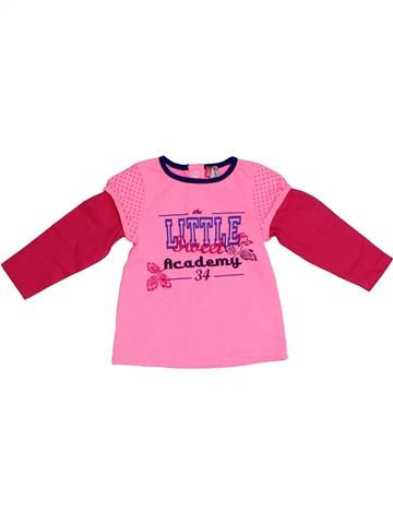 T-shirt manches longues fille ORCHESTRA rose 6 mois hiver #1331619_1