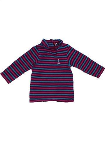 T-shirt col roulé fille ORCHESTRA bleu 6 mois hiver #1331627_1