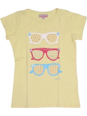 T-shirt manches courtes fille LISA ROSE jaune 10 ans été #1331672_1