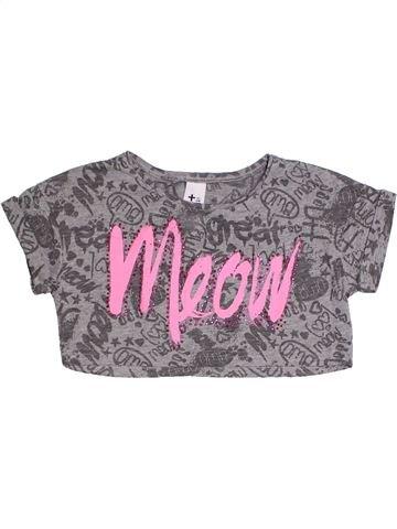 T-shirt manches courtes fille C&A gris 10 ans été #1331684_1