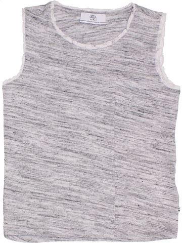 T-shirt sans manches fille LE TEMPS DES CERISES gris 8 ans été #1331692_1
