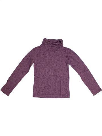 T-shirt col roulé fille DPAM gris 8 ans hiver #1331720_1