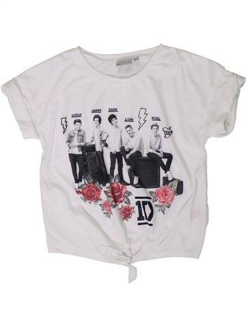 T-shirt manches courtes fille ONE DIRECTION blanc 9 ans été #1332277_1