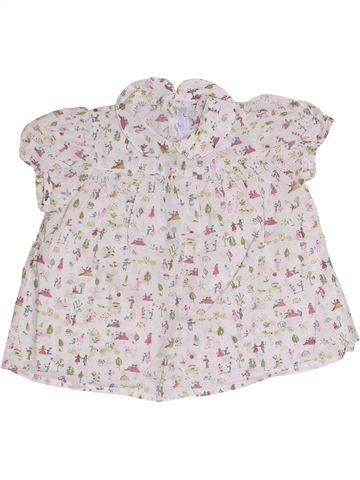 Blusa de manga corta niña TARTINE ET CHOCOLAT blanco 2 años verano #1333581_1
