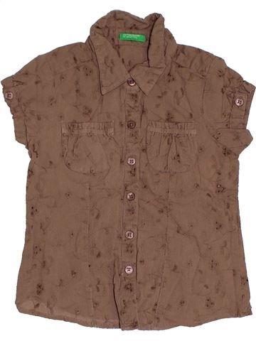 Blusa de manga corta niña BENETTON marrón 3 años verano #1333586_1
