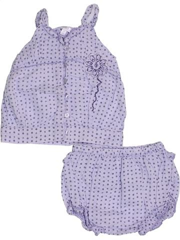 Conjunto niña KIABI violeta 9 meses verano #1333745_1