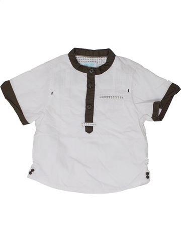 Chemise manches courtes garçon OKAIDI blanc 12 mois été #1333853_1
