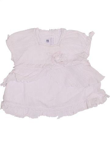 Blusa de manga corta niña MARÈSE blanco 3 meses verano #1334348_1