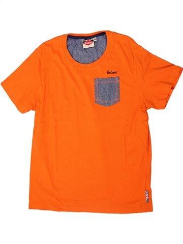 T-shirt manches courtes garçon LEE COOPER orange 13 ans été #1334561_1
