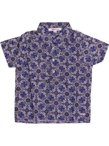 Chemise manches courtes garçon KENZO violet 12 mois été #1334620_1