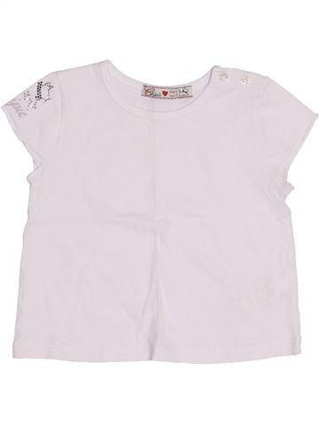 Camiseta de manga corta niña CHIPIE blanco 6 meses verano #1334785_1