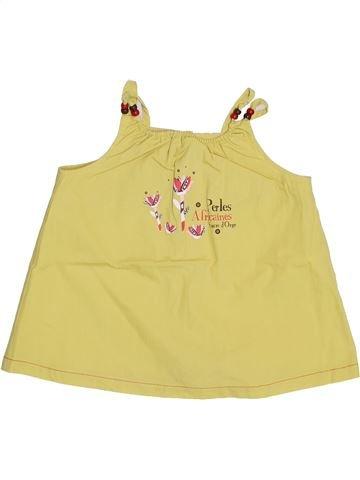 Blusa de manga corta niña SUCRE D'ORGE amarillo 2 años verano #1334806_1
