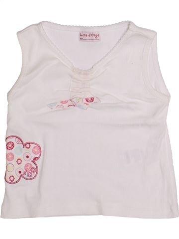 T-shirt sans manches fille SUCRE D'ORGE blanc 2 ans été #1334812_1