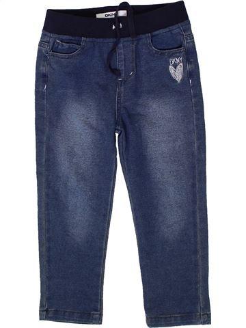 Pantalon fille DKNY bleu 6 ans hiver #1335359_1